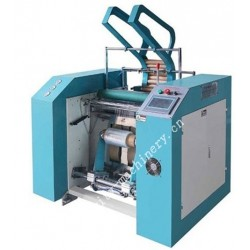 Full automatic stretch/cling film rewinding machine